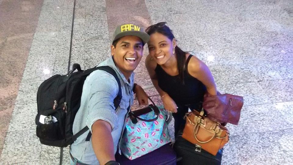 Sefie no Aeroporto Salgado Filho - POA